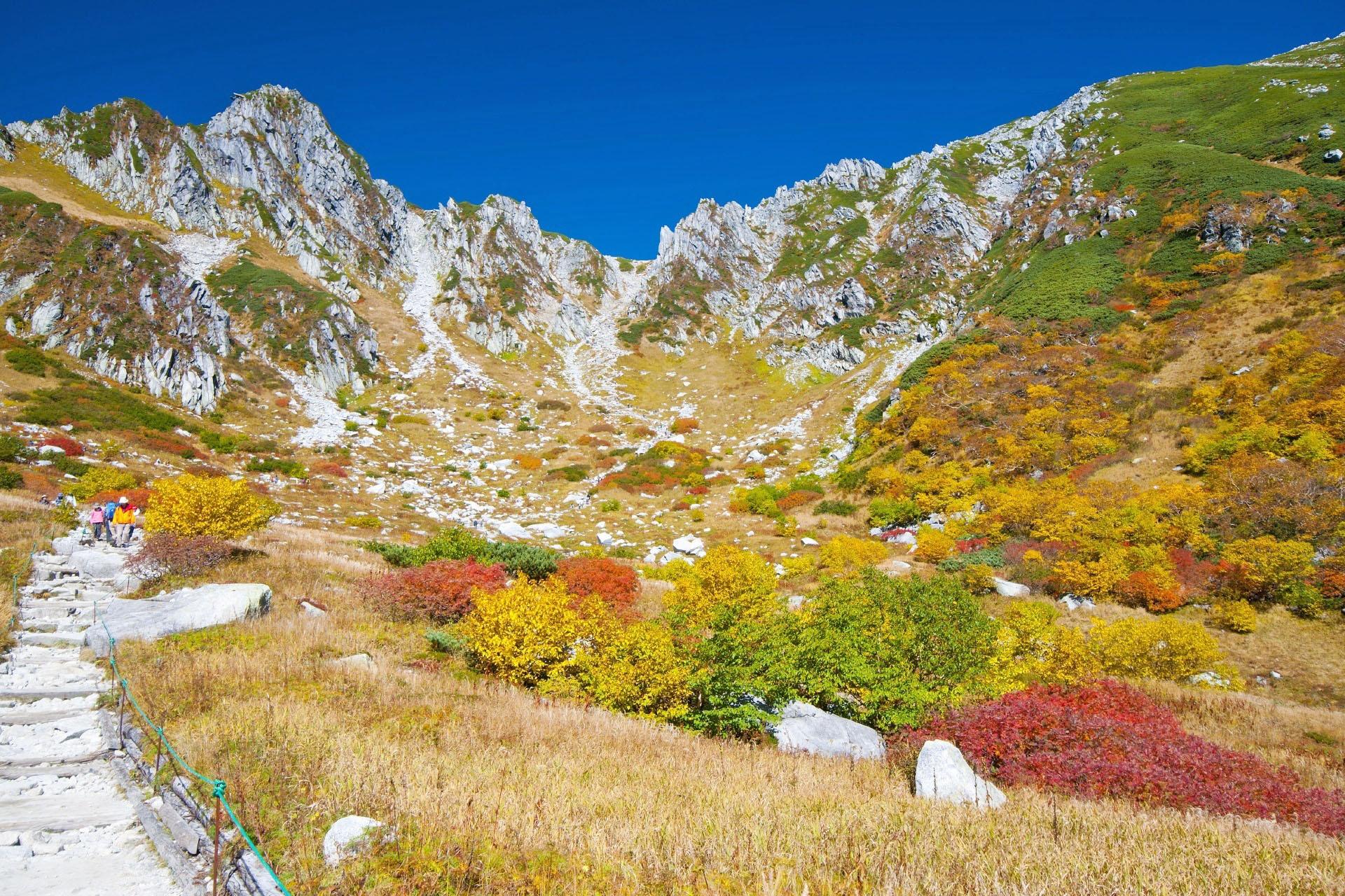 秋の千畳敷 中央アルプスの秋の風景