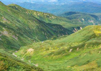 初秋の月山 月山の風景 山形の風景