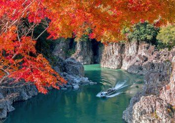 秋の瀞峡 奈良の風景