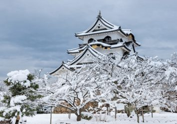 冬の彦根城 滋賀の風景