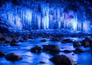 三十槌の氷柱 秩父の風景 埼玉の風景