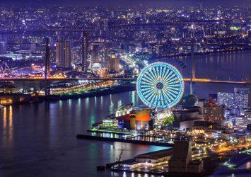 コスモタワーから見る大阪の夜景 大阪の風景