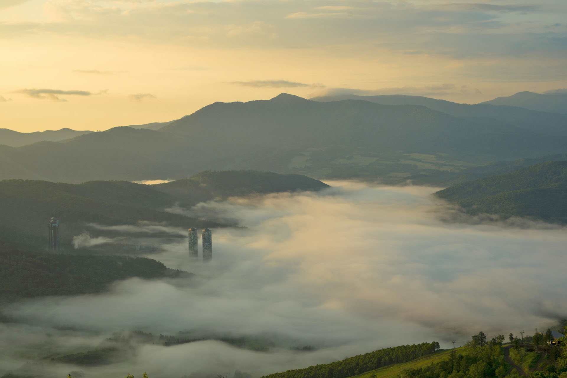 トマムの雲海 北海道の風景