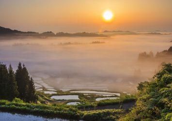 星峠 棚田と雲海の風景 新潟の風景