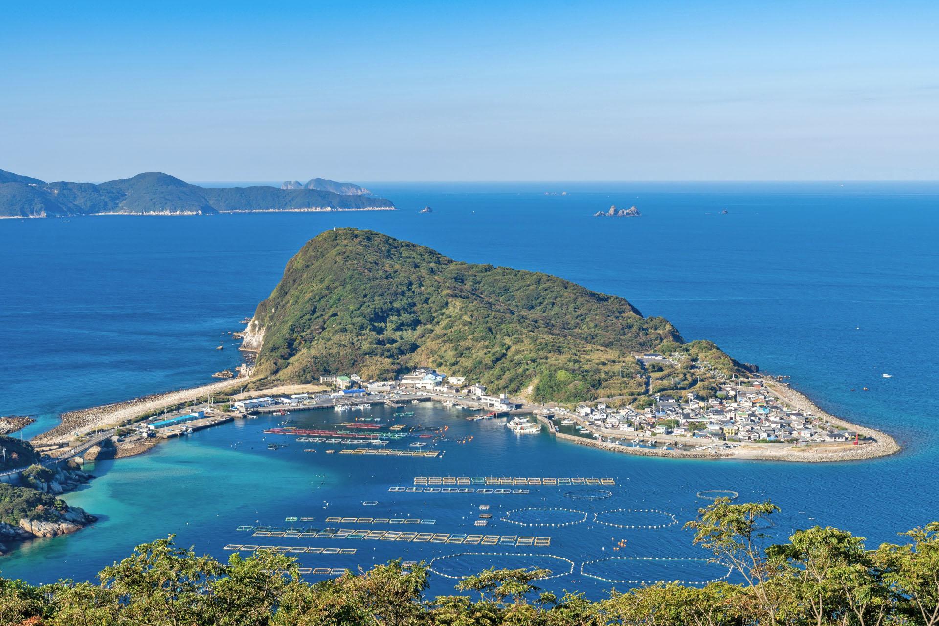 大堂山展望台から見る柏島の風景 高知の風景