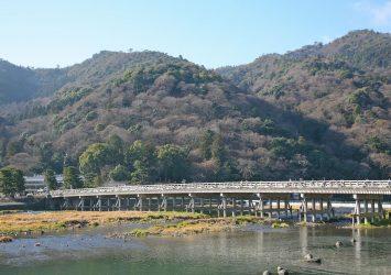 冬の京都 嵐山の風景 京都の風景