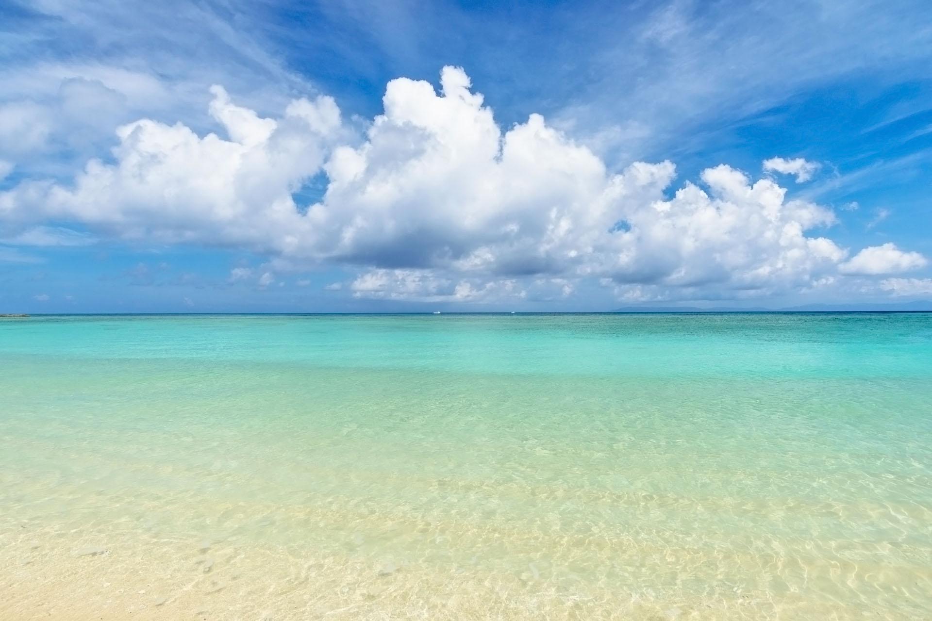 波照間島ニシ浜の風景 沖縄の風景