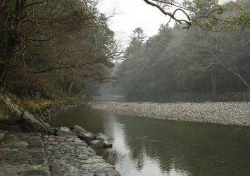 伊勢神宮 五十鈴川の風景 三重の風景