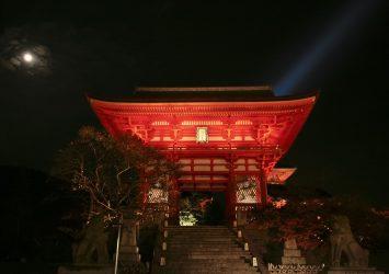 夜の清水寺の風景 京都の風景