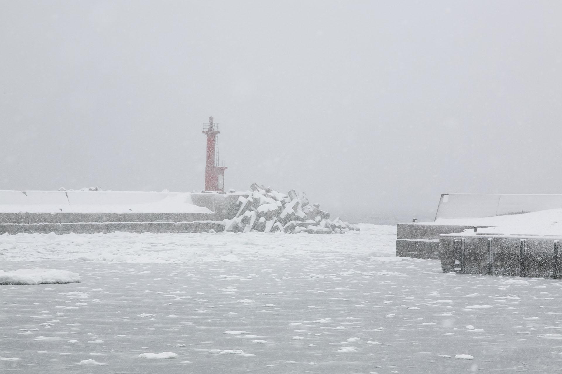 冬の羅臼 北海道の風景