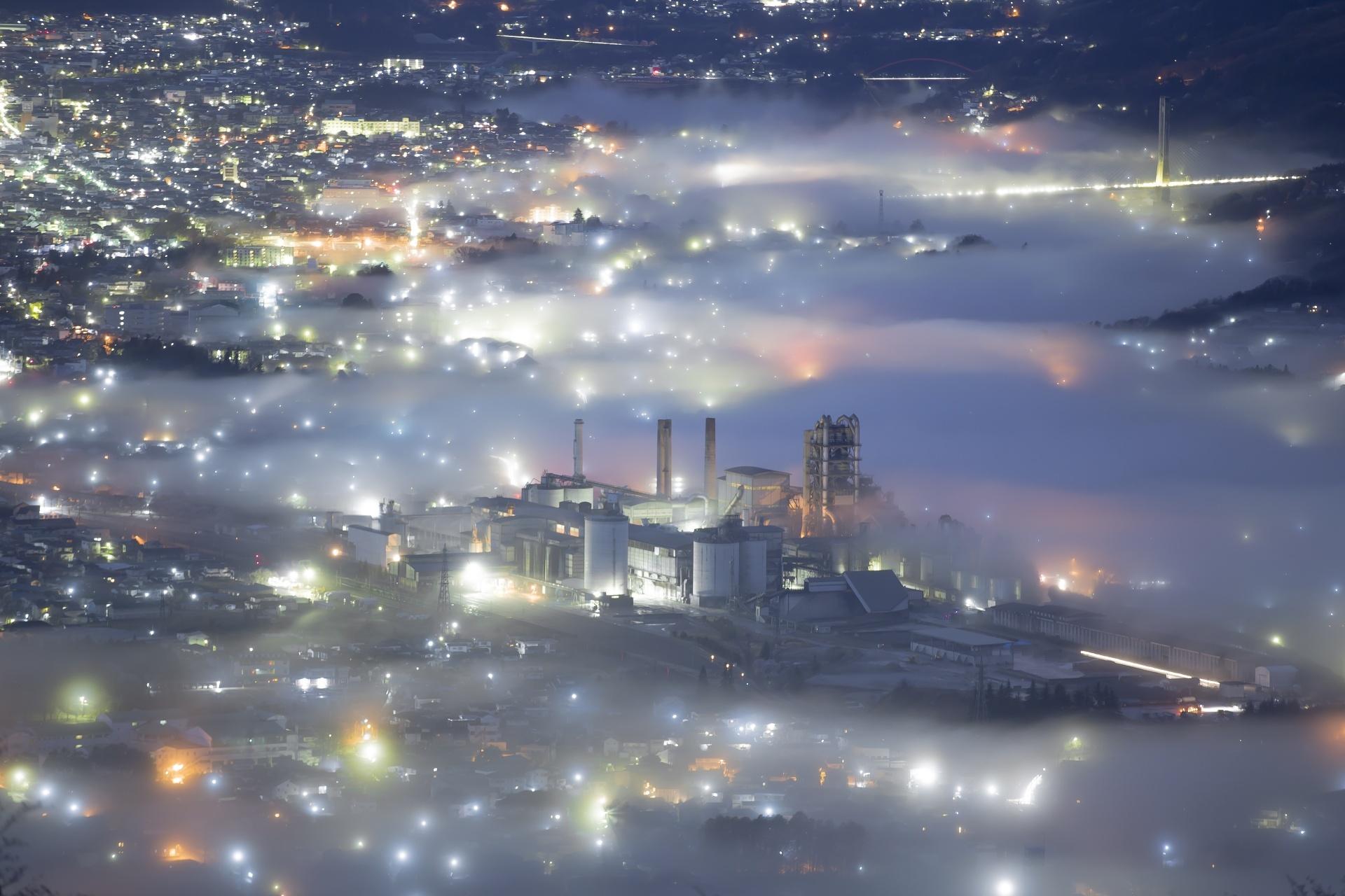 秩父の雲海 夜の雲海の風景 埼玉の風景