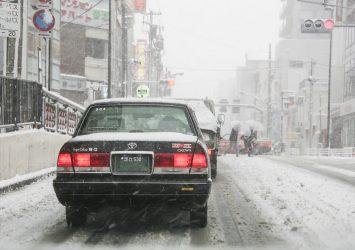 雪の東京の風景 東京の風景