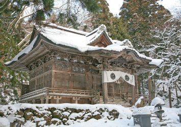 冬の十和田神社 青森の風景