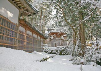 冬の永平寺の風景 福井の風景
