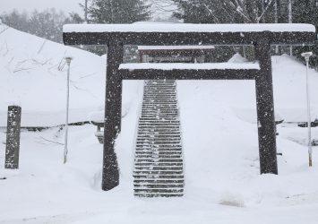⛩ 喜茂別神社の風景 冬の北海道の風景