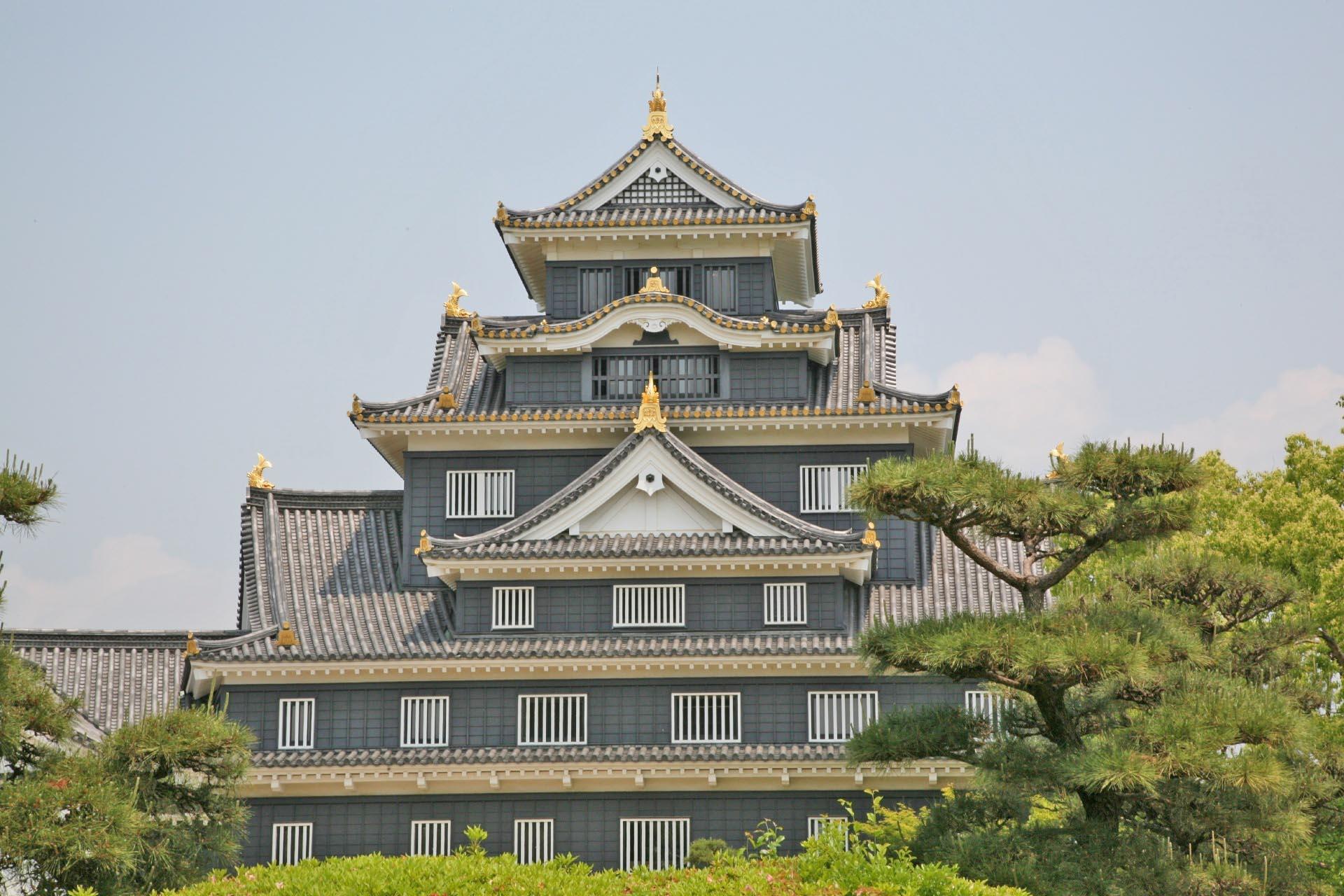岡山城 岡山の風景