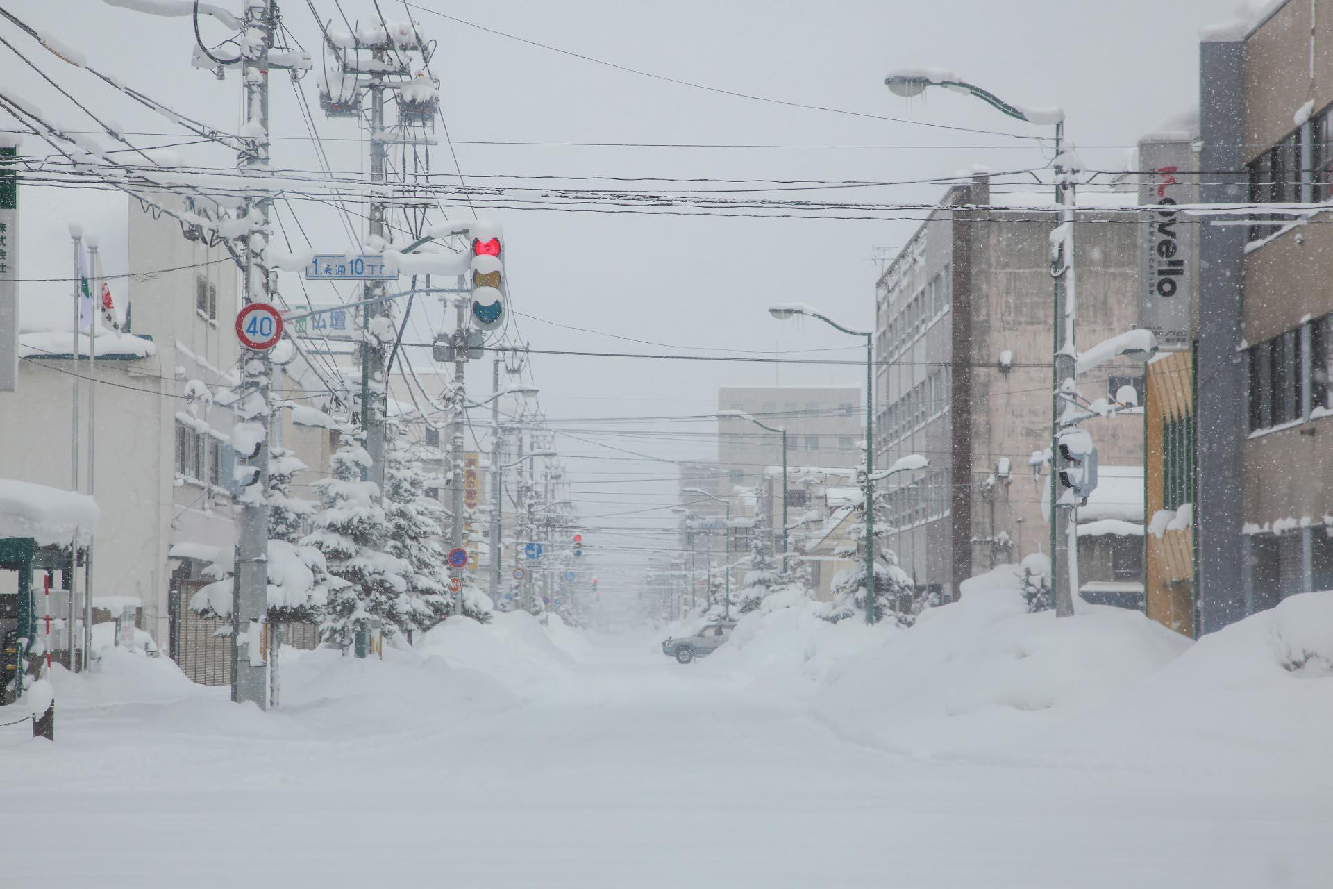 北海道の冬の風景 二月の旭川