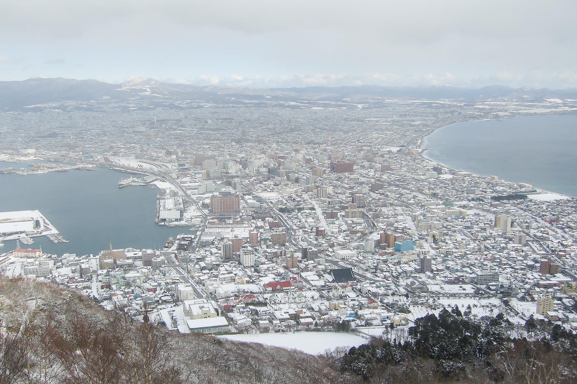 北海道の冬の風景 一月の函館
