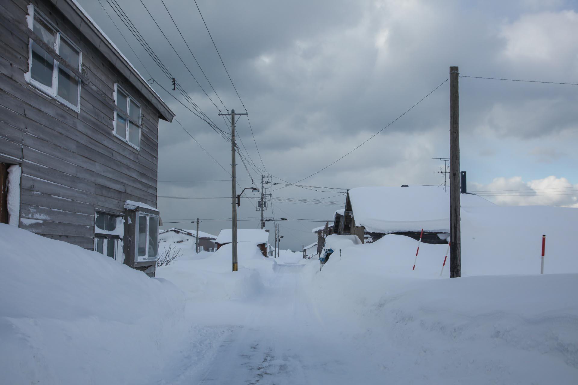 北海道の冬の風景 二月の石狩市