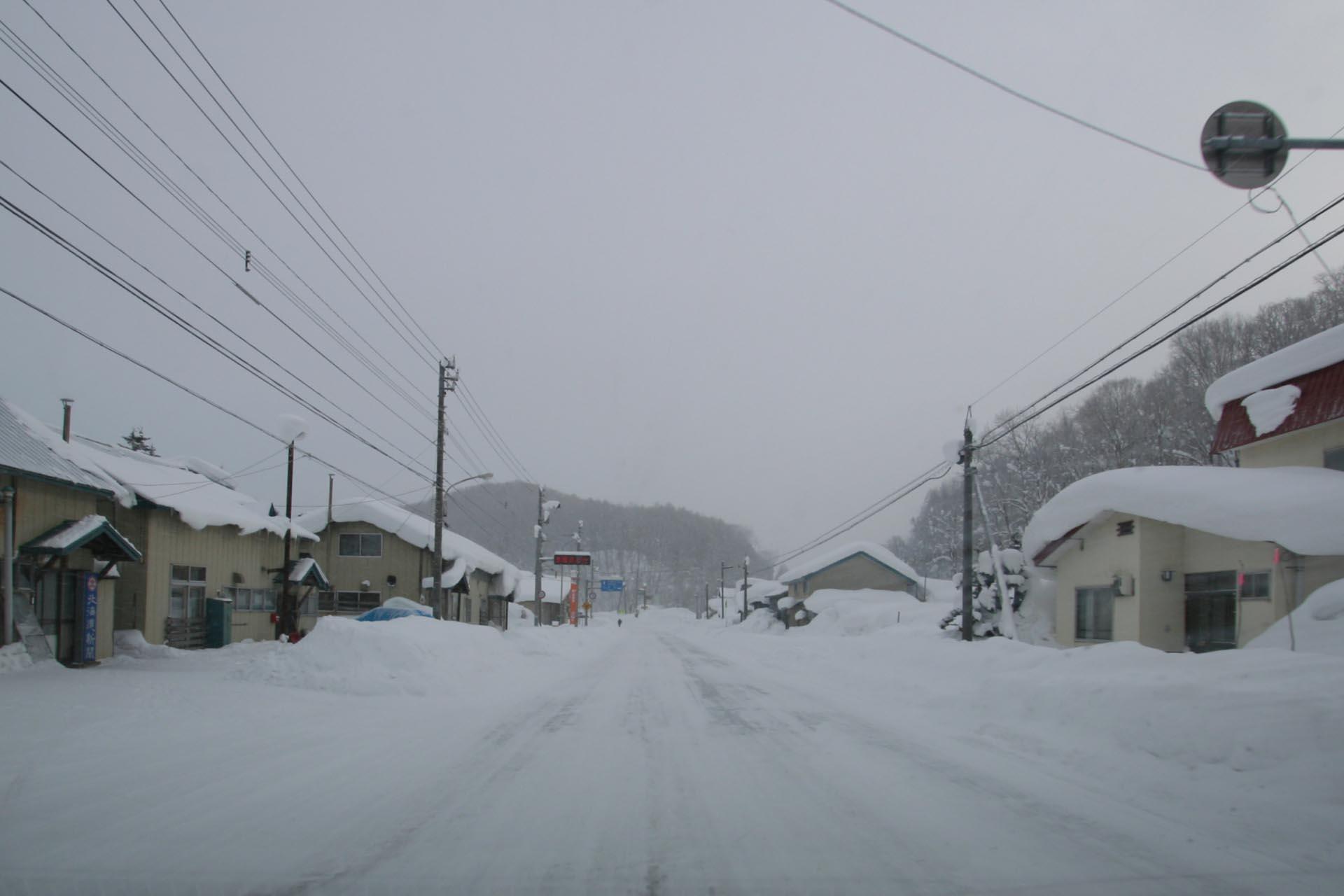 北海道の冬の風景 二月の枝幸郡中頓別町小頓別