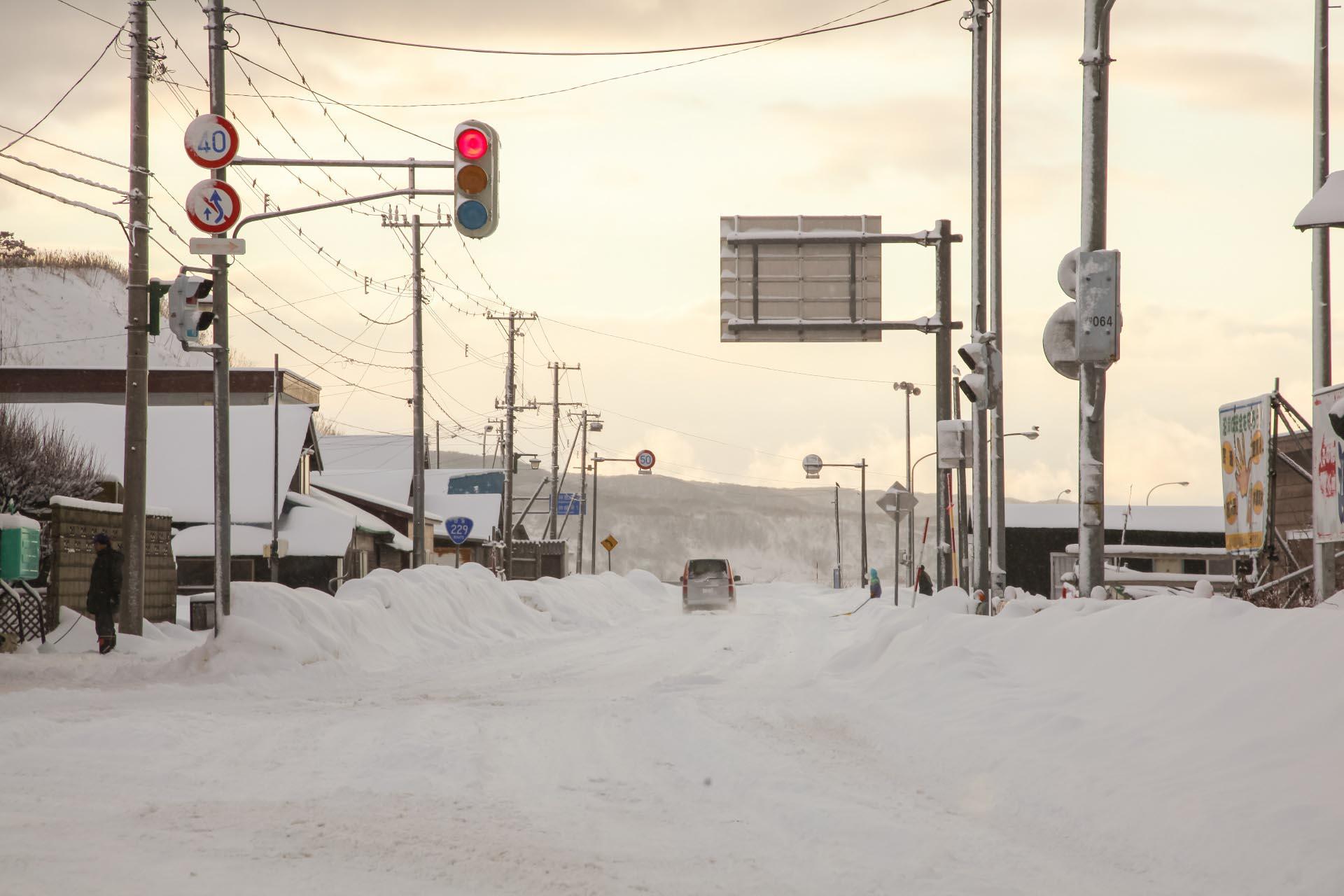 北海道の冬の風景 十二月の積丹