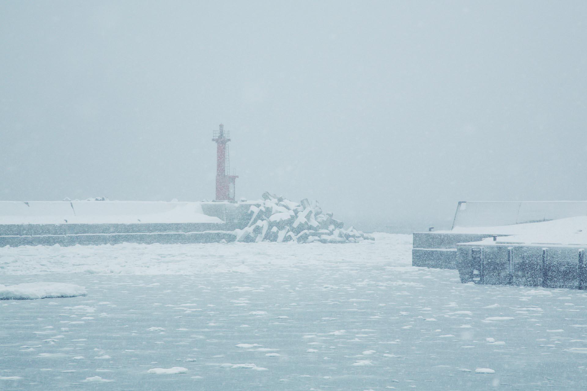 北海道の冬の風景 二月の知床