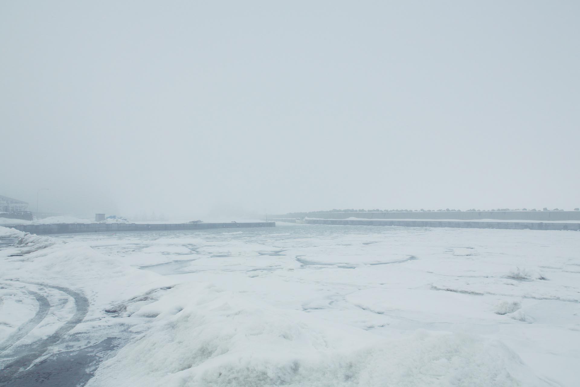 北海道の冬の風景 三月の知床