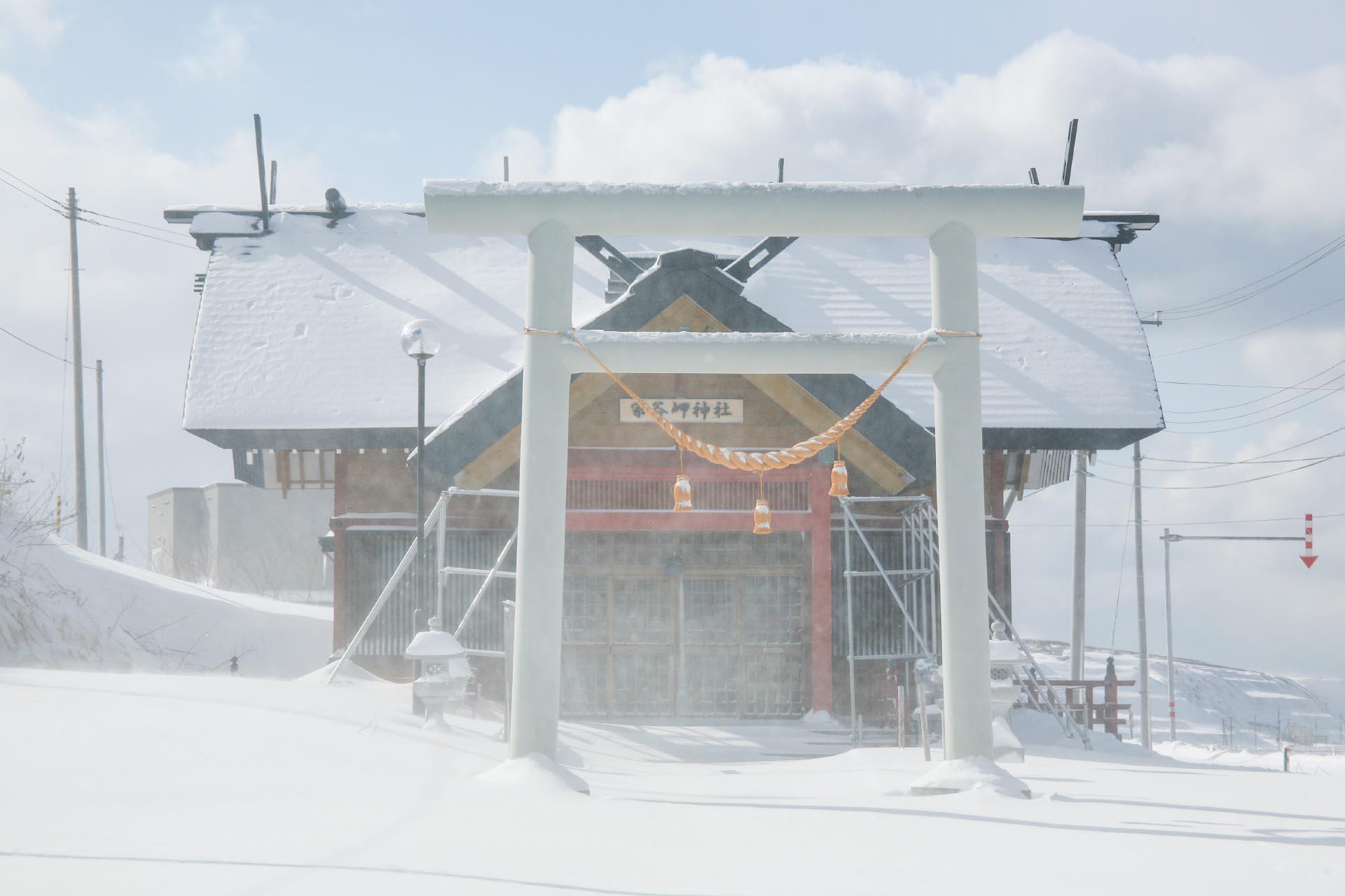 北海道の冬の風景 二月の宗谷岬