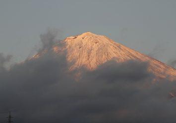 夕暮れの富士山 静岡の風景