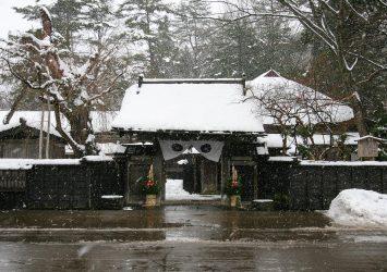 冬の角館の風景 秋田の風景