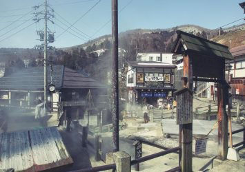 野沢温泉の風景 長野の風景