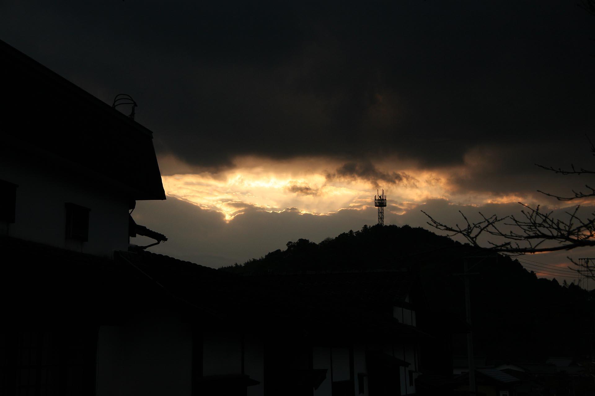 朝倉の夕暮れ風景 福岡の風景