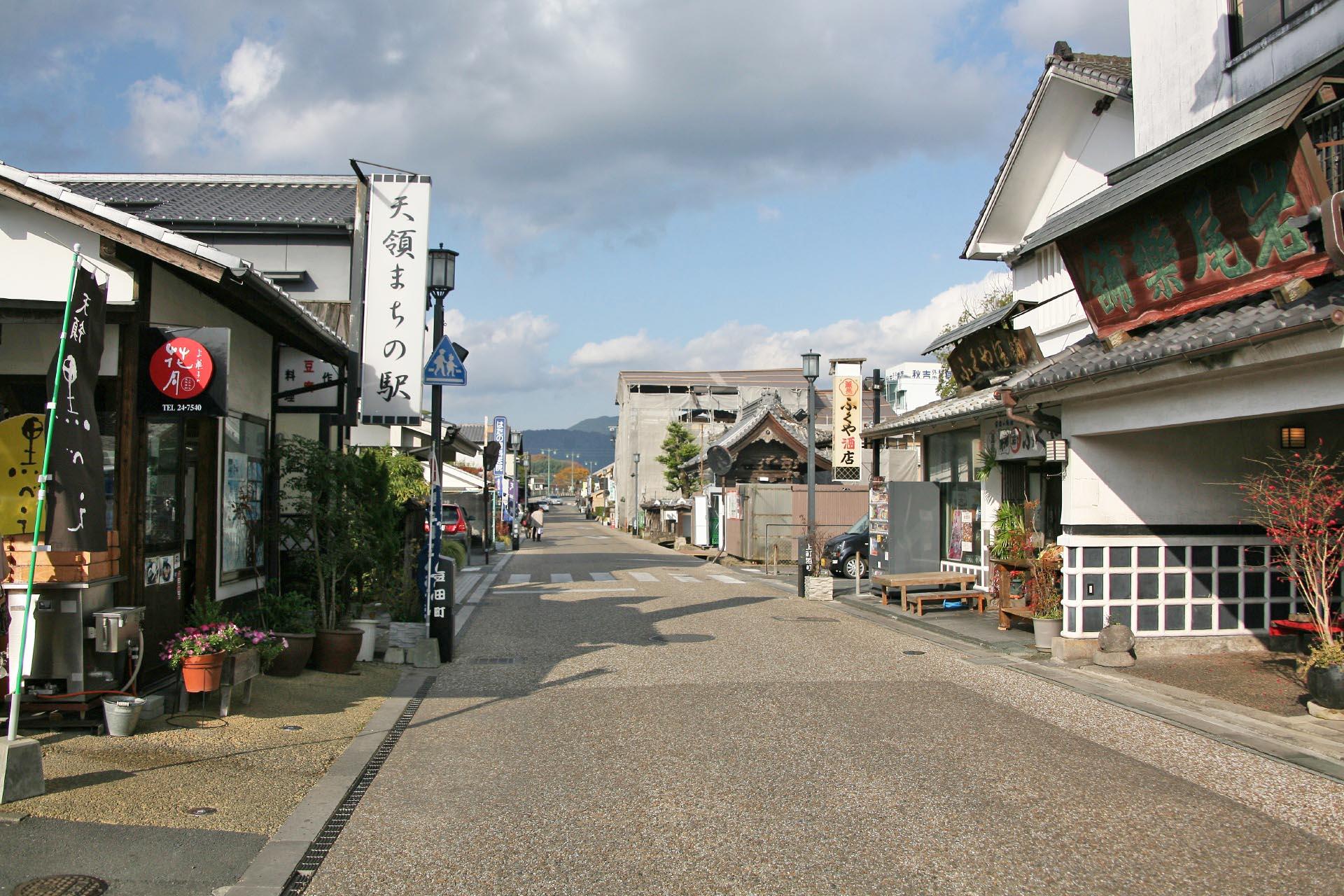 日田の町並み 大分の風景