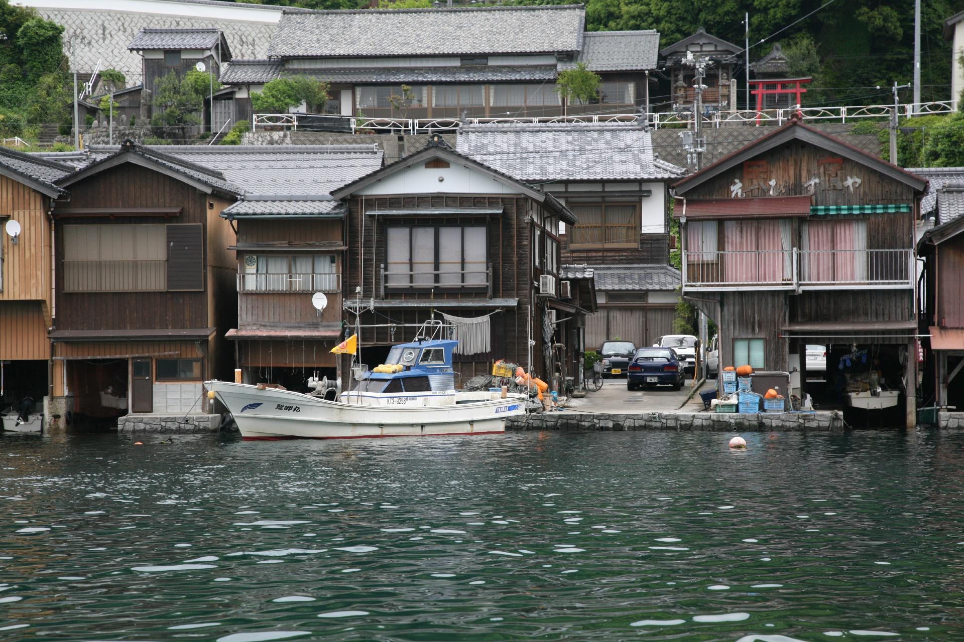 伊根の舟屋の風景 京都の風景