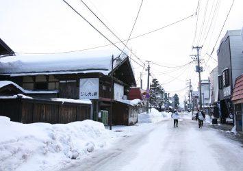 冬の増田の風景 秋田の風景
