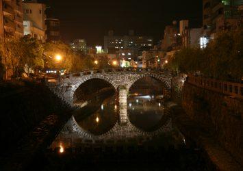 夜の眼鏡橋 長崎の風景