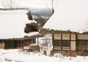 冬の根場 山梨の風景