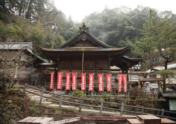 湯胸薬師東光寺 湯の峰温泉 和歌山の風景