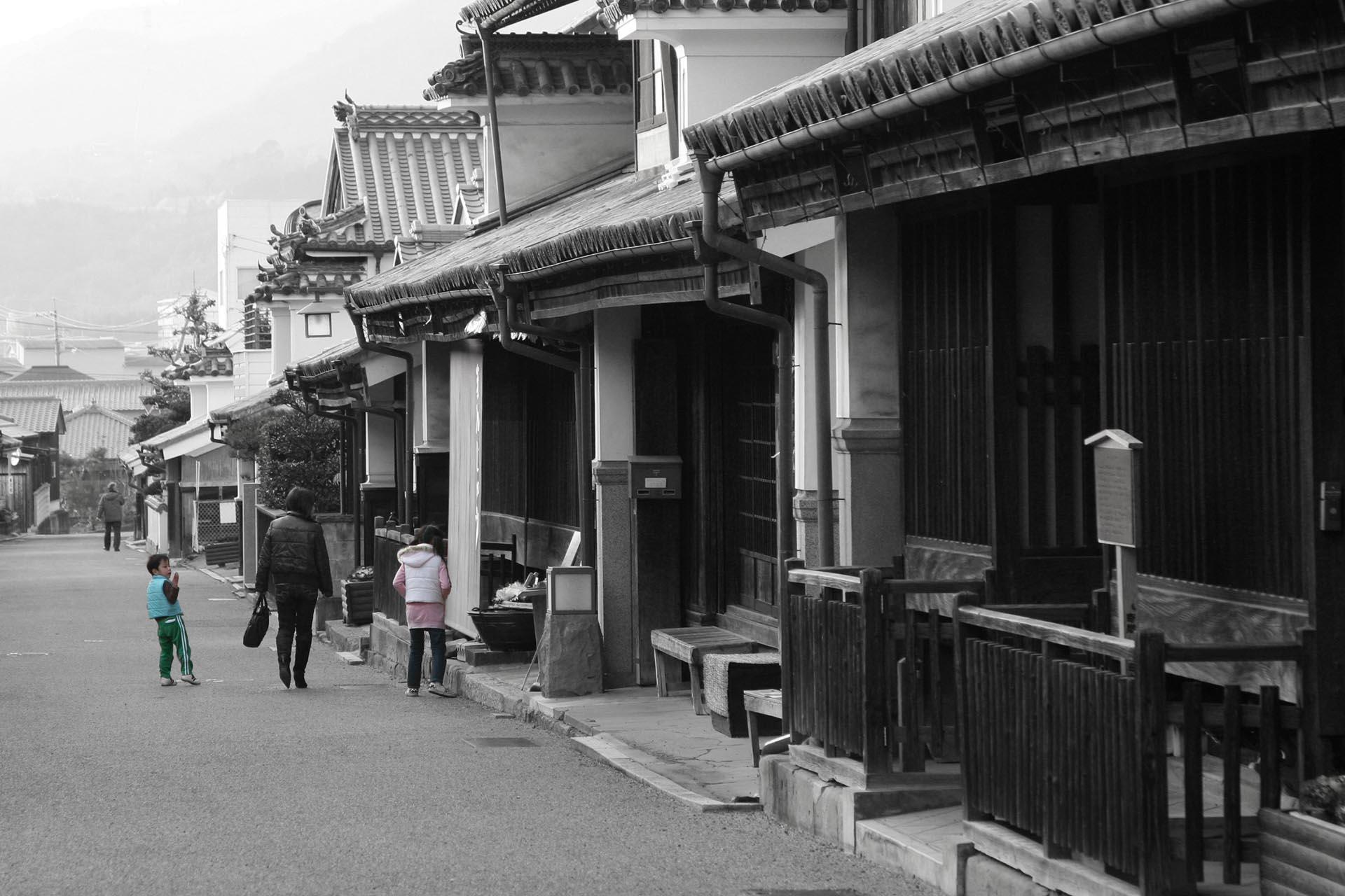 脇町・うだつの町並み 徳島の風景
