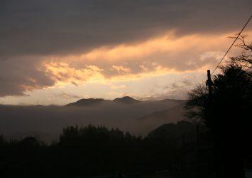 夕暮れの風景 鹿児島の風景