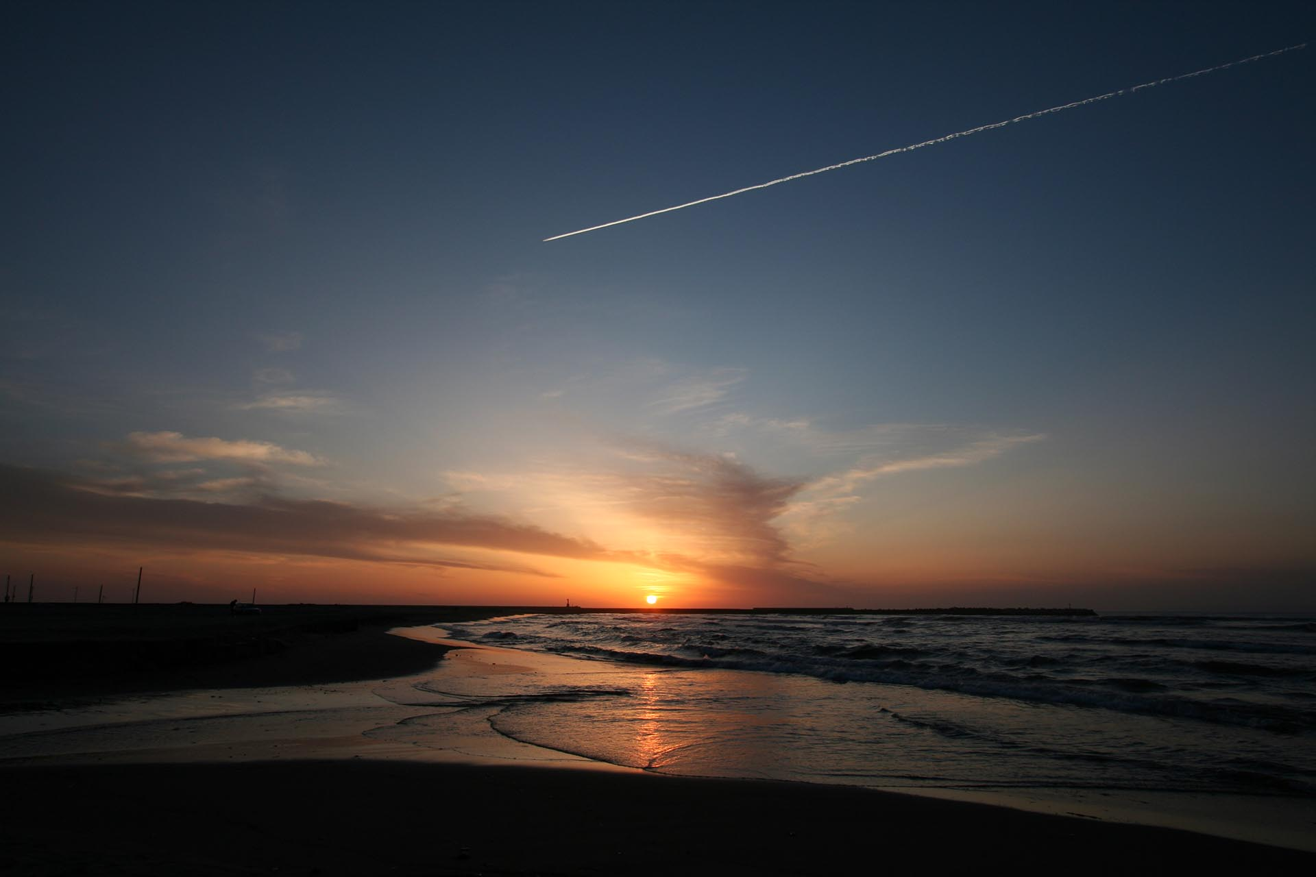 寺泊の夕日 新潟の風景