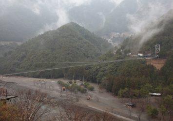 谷瀬の吊り橋 奈良の風景