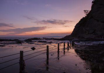 江の島の夕暮れ 神奈川の風景