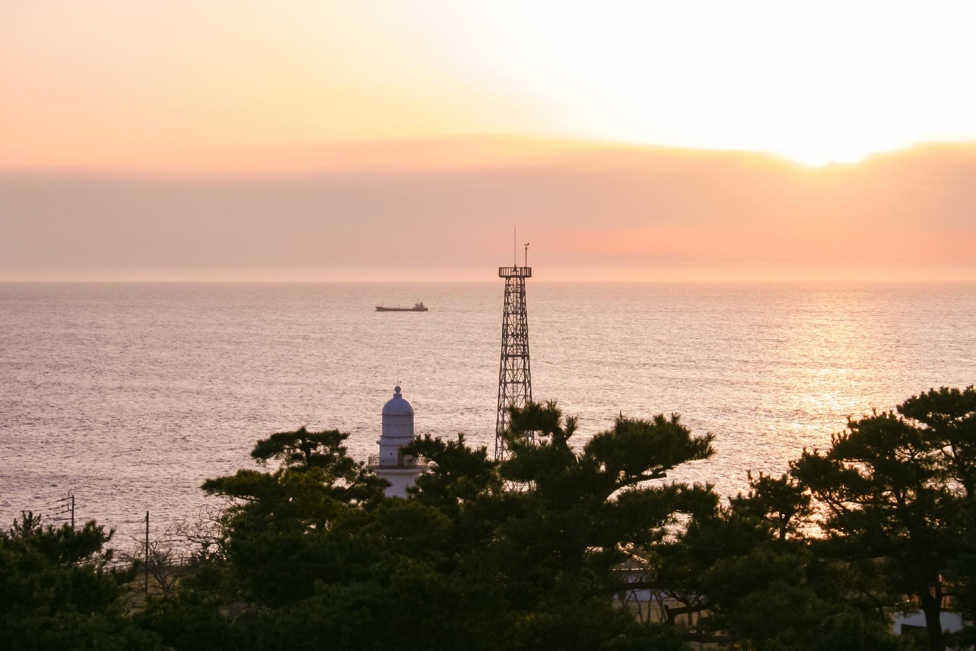 恵山町の朝の風景 北海道の風景