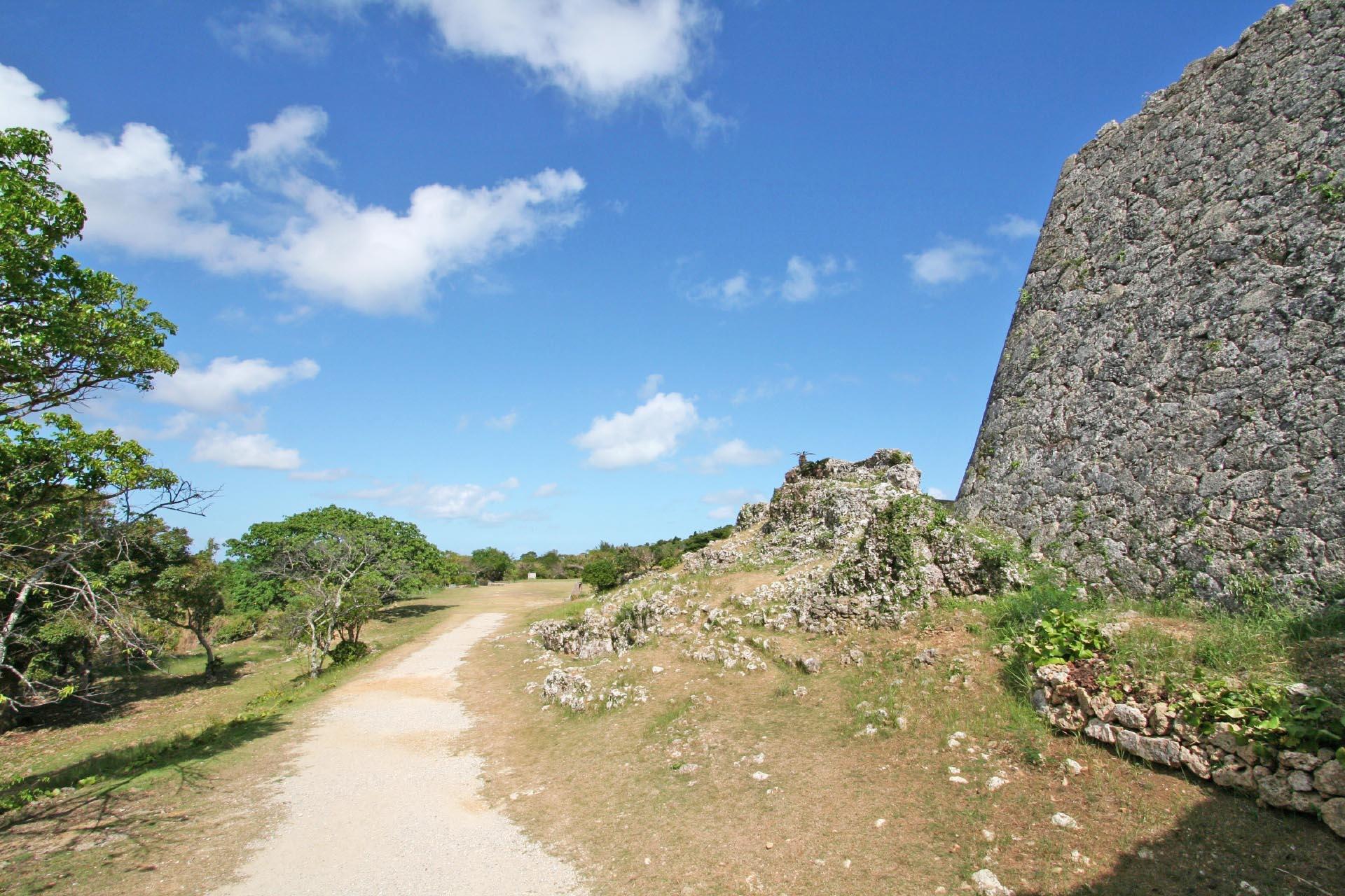中城城跡の風景 沖縄の風景