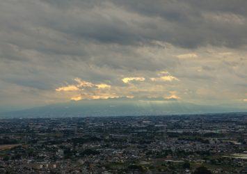 金山城跡 (新田金山城跡)から見る風景 群馬の風景