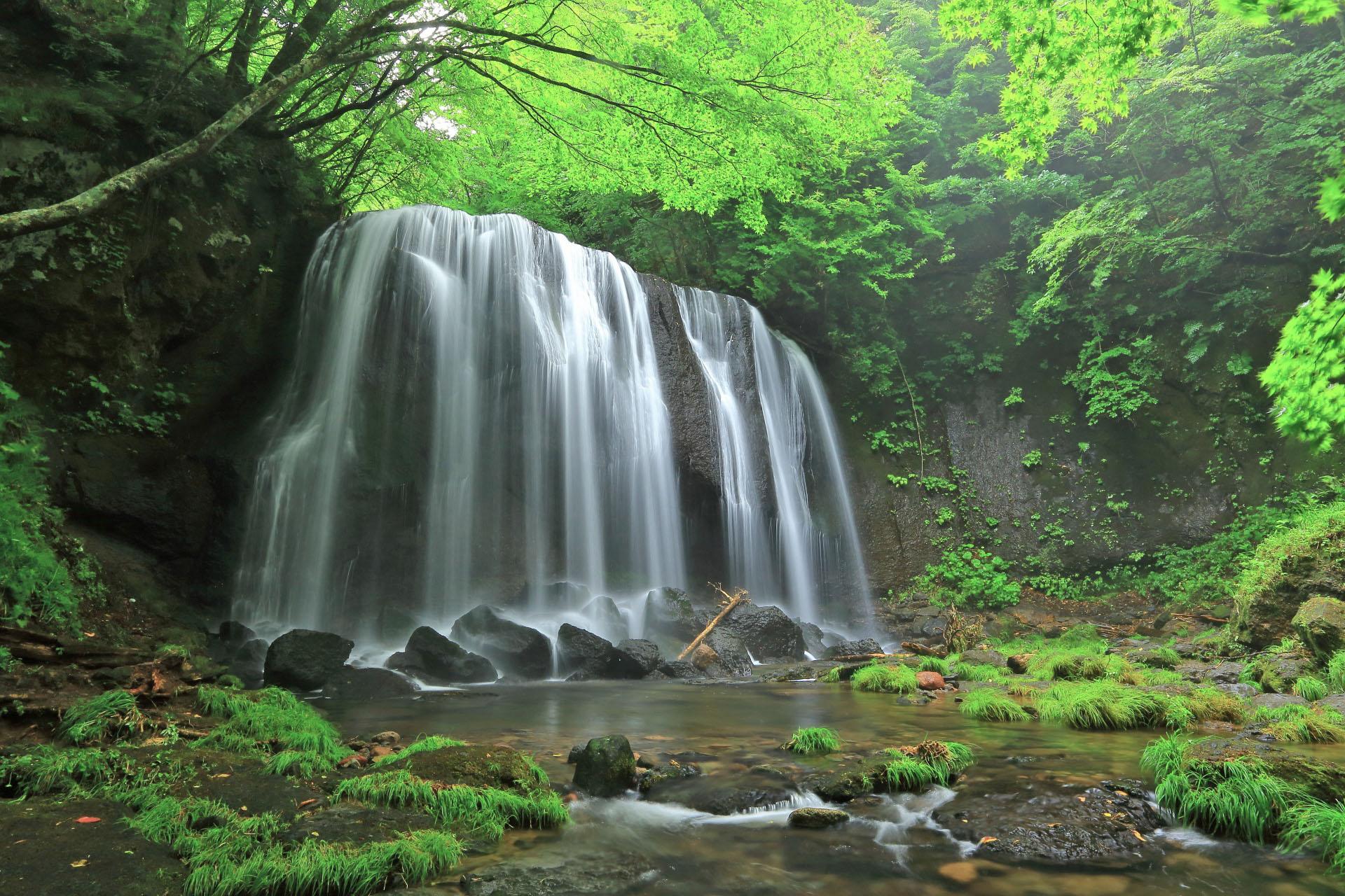 達沢不動滝 福島の風景