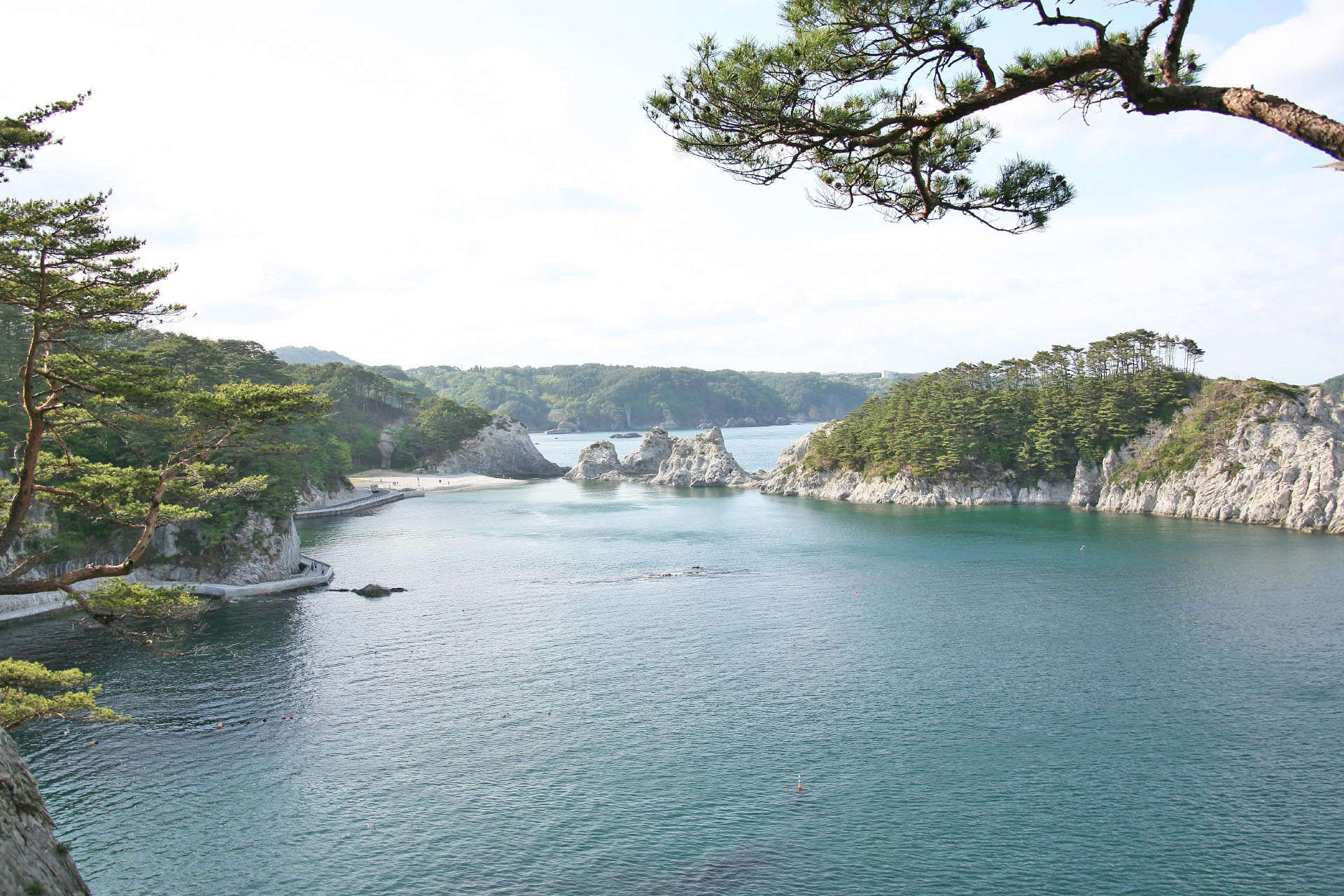 浄土ヶ浜の風景 岩手の風景