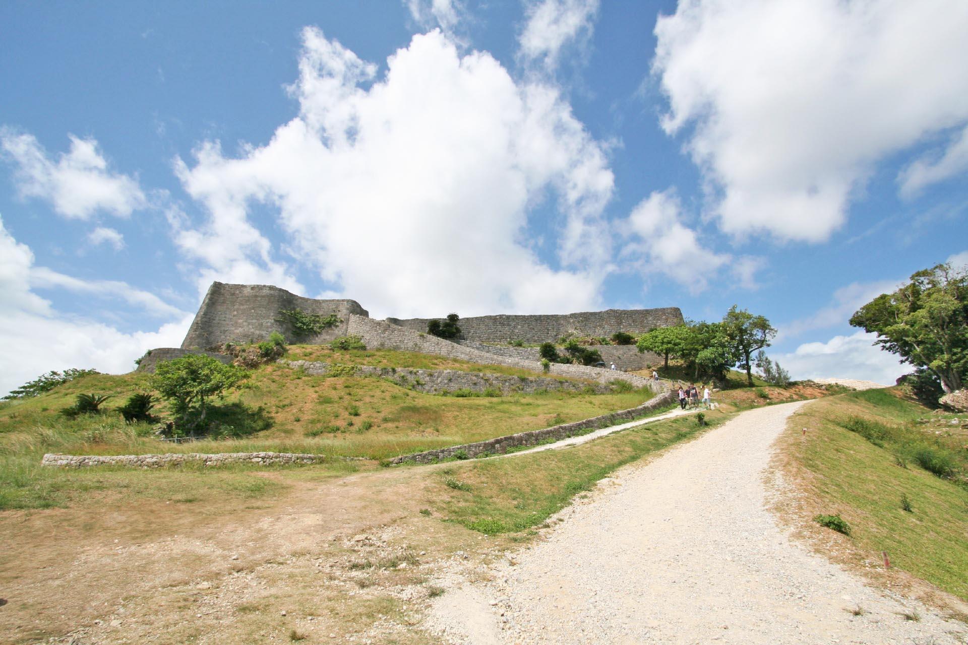 勝連城の風景 沖縄の風景