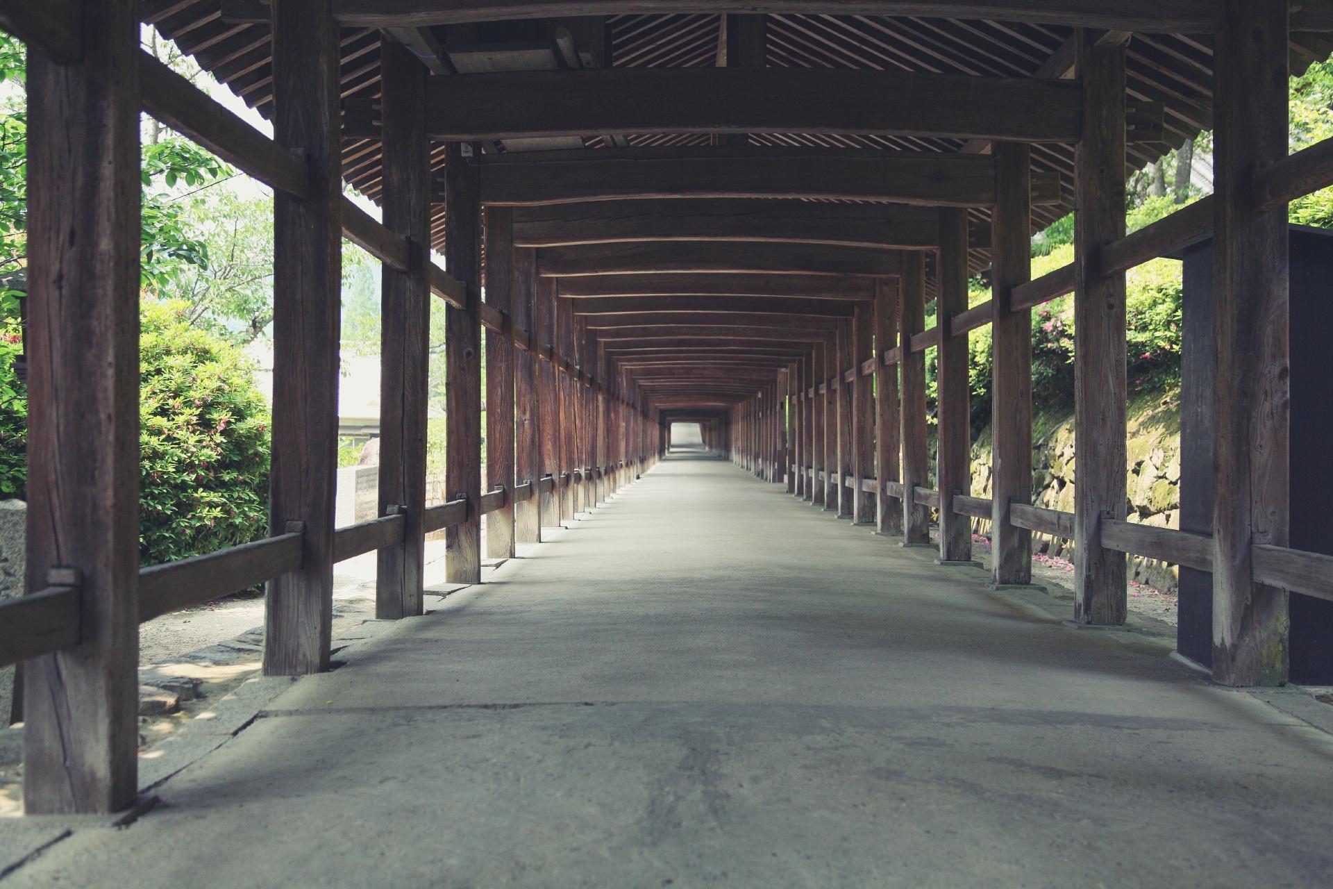 吉備津神社 岡山の風景